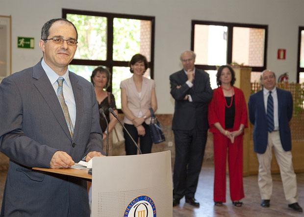 Daniel Segovia Varga durante su toma de posesión como Director de la Escuela Politécnica Superior de la UC3M en Leganés
