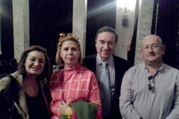 Carlos Miguel Iturralde junto a Pedro J. Ramírez en la presentación en Madrid del programa económico de C's