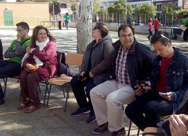 Santiago Llorente durante unas reciente jornadas  por la Escuela Pública