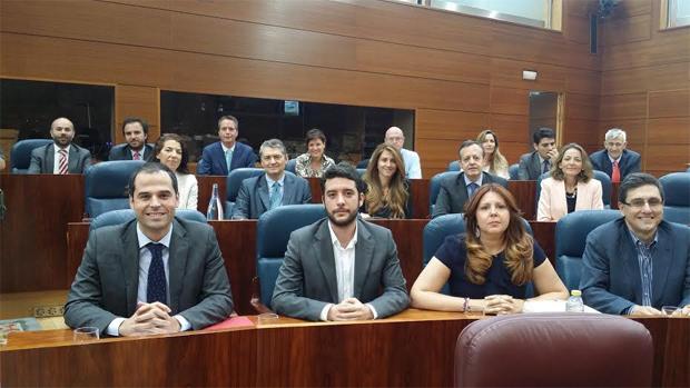 A la izquierda, en la primera fila, Ignacio Aguado, líder de Ciudadanos Madrid